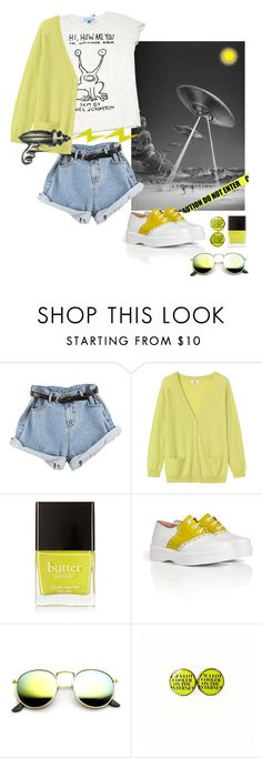 """Mars Attack."" by s-elle ❤ liked on Polyvore featuring Retrò, Toast, Rock Rebel, Butter London, Robert Clergerie, Revo, fun, Tshirt and jeanshorts"