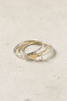 Wee Heart Ring with Initial Rings from Anthropologie.