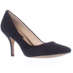 I. Zitah Classic Pump Heels - Black Suede