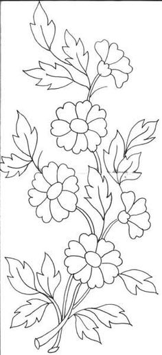 Grand Sewing Embroidery Designs At Home Ideas. Beauteous Finished Sewing Embroidery Designs At Home Ideas. Hand Embroidery Patterns, Applique Patterns, Ribbon Embroidery, Flower Patterns, Embroidery Stitches, Embroidery Dress, Design Patterns, Indian Embroidery, Doily Patterns