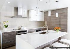 modern white kitchen with island - Google Search