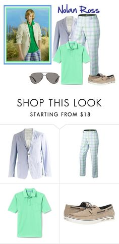 """Nolan Ross~Revenge"" by sjlew ❤ liked on Polyvore featuring Prada, Lands' End, Columbia, Vilebrequin, men's fashion and menswear"