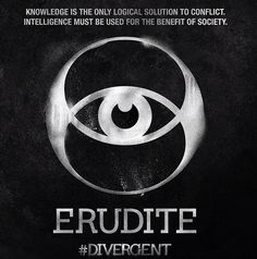 The Erudite faction is one of the Divergent Factions from the book from Veronica Roth and upcoming movie. Famous Erudite Divergent characters are Caleb Prior and Jeanine Matthews. The Erudite symbol represents the intelligent. Divergent Factions Symbols, Divergent Characters, Divergent Trilogy, Divergent Insurgent Allegiant, Divergent Fandom, Divergent Party, Divergent Shirt, Divergent Funny, Tris Prior