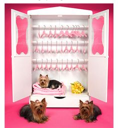 Organize all your doggie clothes in #dogarmoire, large #wardrobe