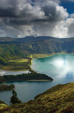 Lagoa Do Fogo, a crater lake on San Miguel Island in Azores, Portugal