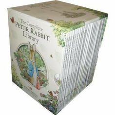 The Complete Peter Rabbit Library 23 books Boxed Set Collection (Squirrel Nutkin, Tailor of Gloucester, Benjamin Bunny, Miss Moppet, Pig Robinson, Ginger and Pickles, Samuel Whiskers, Mr Tod, John Town Mouse, Timmy Tiptoes) (Peter Rabbit Library) , http://www.amazon.com/dp/B0041MW9JI/ref=cm_sw_r_pi_dp_mPLltb0T6R31Q