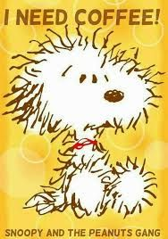 Snoopy and the Peanuts gang Snoopy Love, Snoopy And Woodstock, Baby Snoopy, Peanuts Cartoon, Peanuts Snoopy, I Love Coffee, My Coffee, Morning Coffee, Coffee Mornings