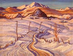 Winter Morning, Charlevoix County - A. Jackson - Group of Seven Painter Group Of Seven Artists, Group Of Seven Paintings, Tom Thomson, Emily Carr, Canadian Painters, Canadian Artists, Art Nouveau, Jackson, Winter Landscape