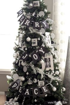 Well isn't this a lovely twist on a classic Christmas tree. Might I even call it Hipster. Either way Santa is going to think it's real nice and so do we! We're feeling inspired by the banner!!!! Stay tuned!!
