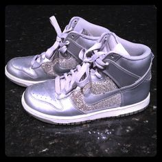 factory price 19d59 e646a Nike Shoes   Silver Glitter Nike Dunks   Color  Silver   Size  7. The  Poshmark App · Products · Glitter Nikes ...