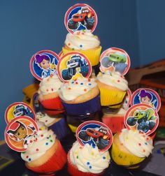 Blaze Cupcakes - 2nd Birthday Party