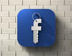 Ознакомьтесь с этим проектом @Behance: «FB security - iOS flat icon» https://www.behance.net/gallery/17716023/FB-security-iOS-flat-icon