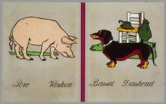 Eugen Osswald, Animaux, Animal ABC, 1920s.