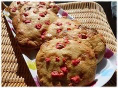 Cookies à la praline rose et au chocolat blanc