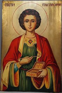 Saint Panteleimon-Byzantine Orthodox hand painted icon