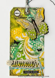 Layers of ink - Multi-Coloured Embossed Butterfly Tutorial by Anna-Karin