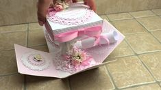 First Holy Communion explolding box by Busy Bees