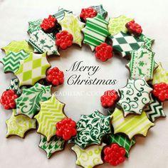 Cadillac cookies Christmas wreath