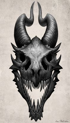 Dragon Skull by Kate Pfeilschiefter More