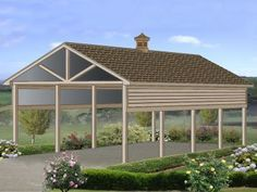 Carport floor plans and carport blueprints. View outdoor covers, carports and sheltered parking alternatives for garage plans in this collection of blueprints. Rv Garage Plans, Carport Plans, Carport Garage, Garage House, Shed Plans, Carport Ideas, Garage Ideas, Wood Carport Kits, House Plans
