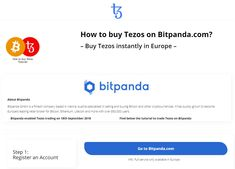 Bitpanda enabled Tezos trading on 18th September 2018   Bitpanda GmbH is a fintech company based in Vienna, Austria specialised in selling and buying Bitcoin and other cryptocurrencies. It has quickly grown to become Europe's leading retail broker for Bitcoin, Ethereum, Litecoin and more with over 850,000 users.  Find below the tutorial to trade Tezos on Bitpanda Buy Bitcoin, Cryptocurrency News, Vienna Austria, Blockchain, 18th, Investing, September, Europe, Retail