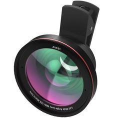 AUKEY Ora iPhone Lens, 0.67x 100° Wide Angle + 10x Macro Clip-on Cell Phone Camera Lenses Kit for Samsung, Android Smartphones, iPhone. Ora 2-in-1 Lens Kit includes a 100° Wide Angle Lens + a 10x Macro Lens - Ideal for capturing detailed close-ups, wide landscapes, travel scenery, and wild selfies. Macro lens gets you 10X closer to your subject for extreme close-ups of textures and objects. Wide Angle Lens opens up your field of view for breathtaking landscape photos or selfies. Crafted…
