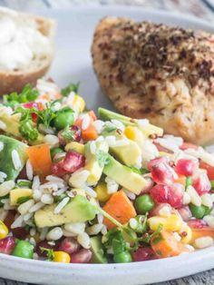 Cobb Salad, Broccoli, Cantaloupe, Potato Salad, Main Dishes, Chicken, Fruit, Healthy, Pesto