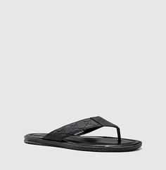 Gucci - rubberized leather thong sandal 353765AF7101000