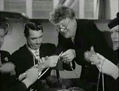 LOL even Cary Grant gives knitting a try!
