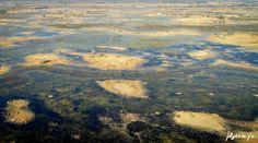 Vue aérienne, Botswana. www.flytem.fr