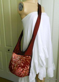 Hobo kimono style sling bag