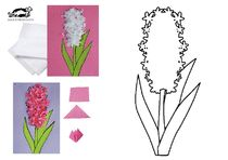 Tissue / Construction Paper Hyacinth Flower Art - Image Only Spring Art, Spring Crafts, Flower Art Images, Construction Paper Flowers, Mothers Day Coloring Pages, Preschool Art Projects, Mothers Day Crafts For Kids, Dinosaur Crafts, Paper Birds