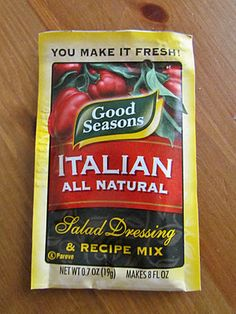 Olive Garden Salad Dressing    Ingredients:  1 packet Good Seasonings Italian Dressing  (Ingredients needed to make dressing; oil, water, vinegar)  ½ tsp. dried Italian Seasoning  ½ tsp. table salt  ¼ tsp. black pepper  ½ tsp. sugar  ¼ tsp. garlic powder  ½ tbsp. mayonnaise (no Miracle Whip, please)  ¼ cup olive oil  2 tbs. white vinegar  1 ½ tbsp. water