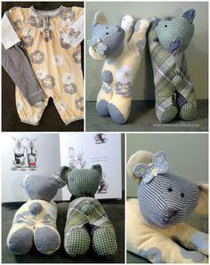 DIY Baby Clothes Teddy Bear Keepsake Stuffed Toy Tutorial