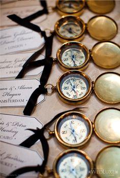 Compass escort cards.