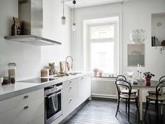 A calm Swedish home in neutrals (and a fab fireplace) | my scandinavian home | Bloglovin'