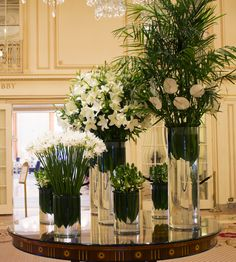 Summer in #NewYorkCity has been pretty mild this year, so we channeled those cooler days with a soothing white palate of #Lilies, #Anthurium, #PalmFronds, #StarOfBethlehem, and #NerineLilies at The Plaza Hotel this week.