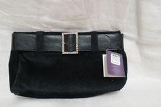 Vintage Victoria's Secret Black Purse Clutch by KansasKardsStudio