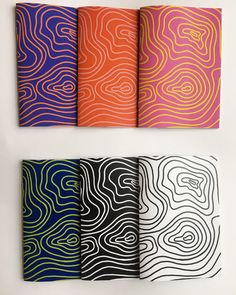 ANDREA LIANG - Contour Line Notebooks A5 Notebook, Lined Notebook, Contour Line, My Portfolio, Notebooks, Graphics, Creative, Graphic Design, Notebook