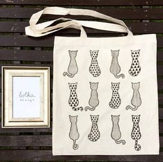 CatPrint Canvas Totebag