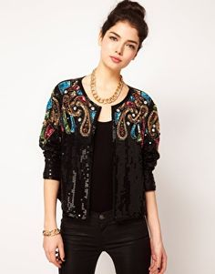ASOS Trophy Jacket With Baroque Embellishment    Please give this jacket to me, dear Santa!