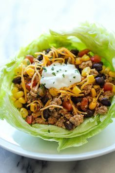 Taco Lettuce Wraps - A wonderfully healthy, low carb alternative to traditional tacos, packed with tons of flavor and protein! Taco Lettuce Wraps - A wonderfully healthy, low carb alternative to traditional tacos, packed with tons of flavor and protein! Taco Lettuce Wraps, Lettuce Wrap Recipes, Taco Wraps, Healthy Lettuce Wraps, Lettuce Wrap Ideas, Veggie Lettuce Wraps, Ground Turkey Lettuce Wraps, Low Carb Recipes, Cooking Recipes