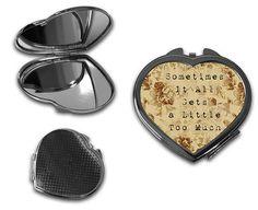 Shawn Mendes Lyrics Sometimes Quote Compact Makeup Handbag