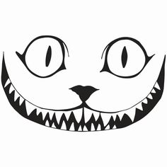 """Cheshire Cat Smile Decal, 5.5""""/7.5""""/11.5"""" Sizes, 10 Color Choices, Sticks to Virtually Any Flat Surface"""