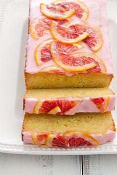 OMG. Just looking at this brings joy. Must try this Blood Orange Loaf Cake