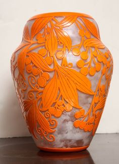 Daum Nancy Rare Art Deco Vase