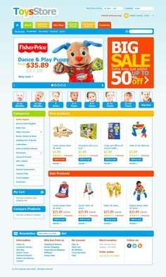 Loving parents are ready to give a treat to their kids every now and then. Save them some time and efforts starting online store. With bright colors and cartoon style of the theme, choosing the des...