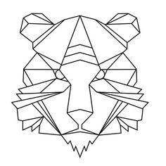 https://www.instagram.com/di.artemis/   #tygrys #tiger #tattoo #tattooproject #geometric #drawing #geometrictattoo #sketchbook #drawing #digital #digitalart #geometricart #poland #polishart #design #instaart #illustration #tattooart