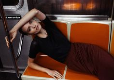 Amanda Norgaard is a Subway Ballerina for KURV Magazine by Marco Trunz - Fashion Gone Rogue: The Latest in Editorials and Campaigns