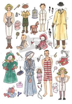 1900 Family Paper Dolls
